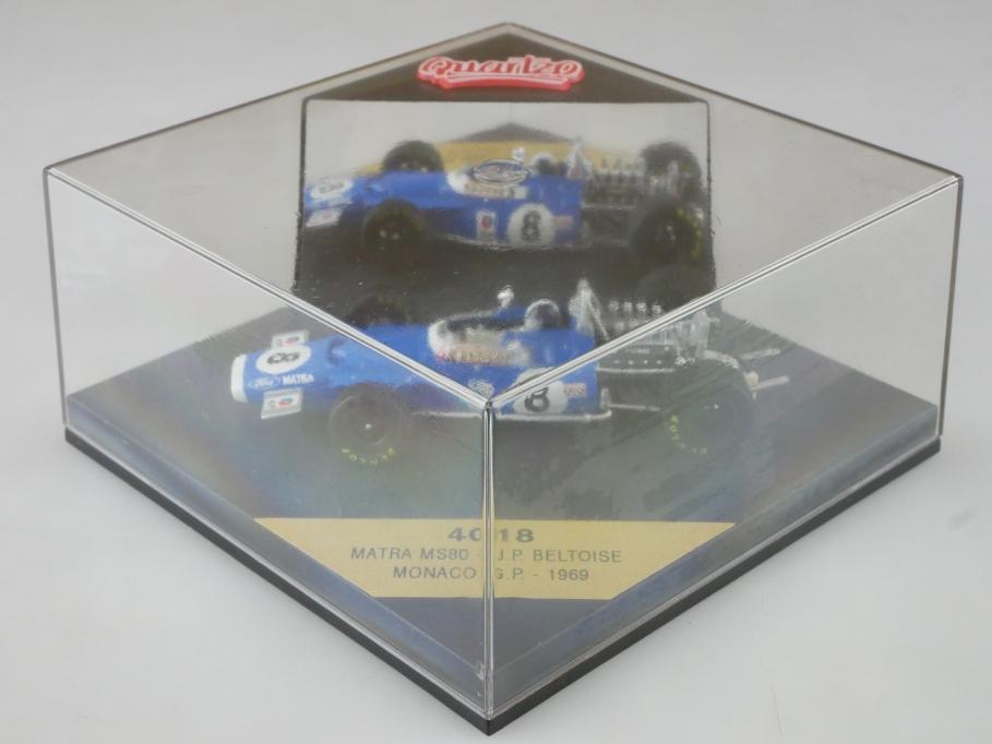 4018 Quartzo 1/43 Matra MS 80 Formel 1 Beltoise Monaco GP 1969 mit Box 515773