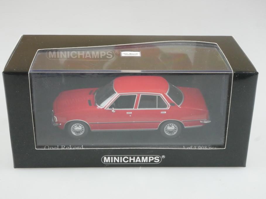 400044004 Minichamps 1/43 Opel Rekord D 1975 rot mit Box 515785