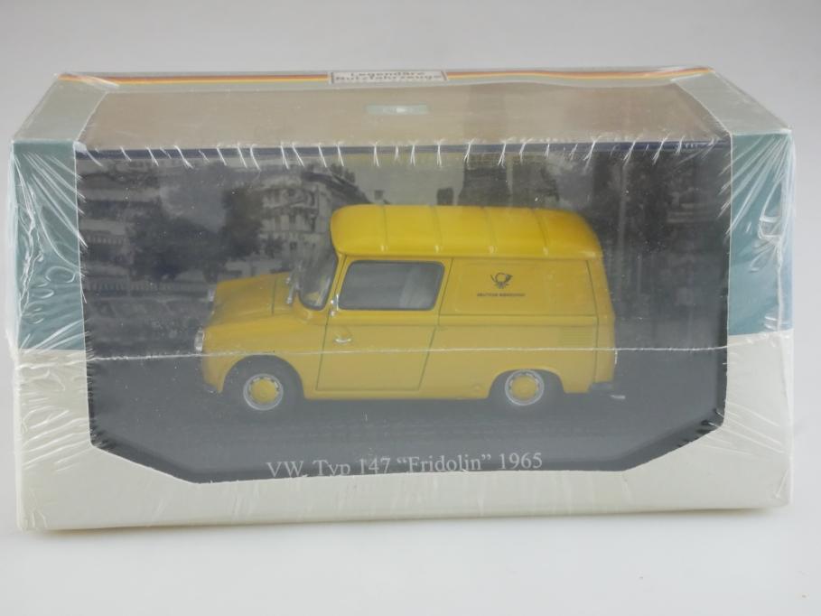 Atlas 1/43 Nutzfahrzeuge VW Typ 147 Fridolin Bundepost 1965 mit Box 515787