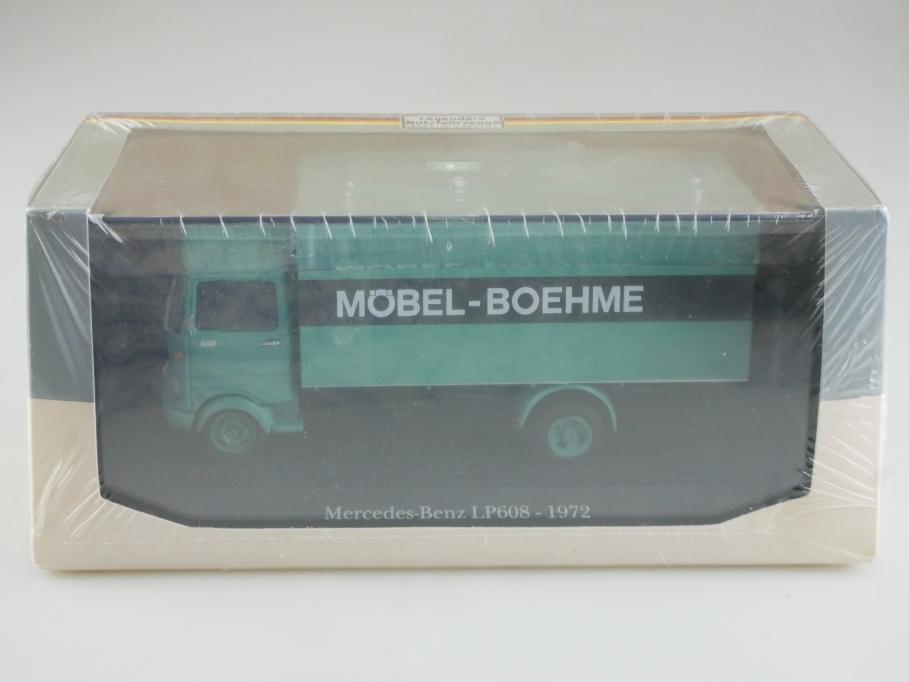 Atlas 1/43 Nutzfahrzeuge Mercedes Benz LP 608 Koffer Möbel Boehme mit Box 515793