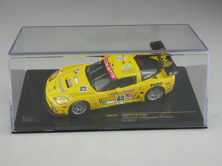 LMM 124 Ixo 1/43 Chevrolet Corvette C6R Le Mans 2007 J.O.Connel mit Box 515797
