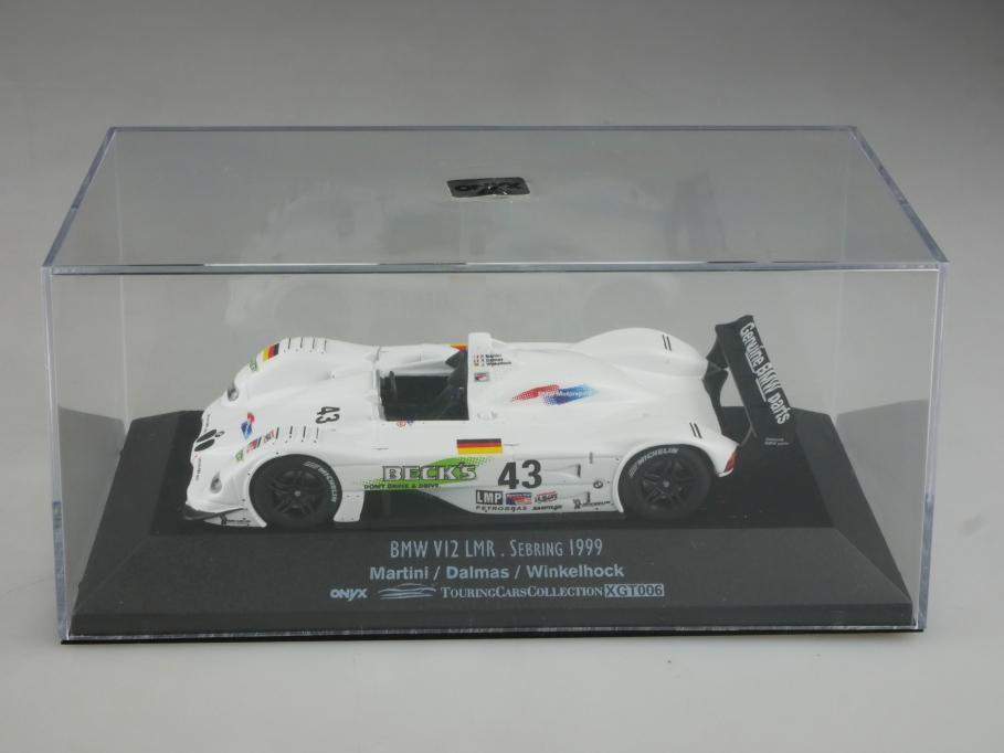 Onyx 1/43 BMW V12 LMR Sebring 1999 Martini Dalmas Winkelhock mit Box 515798