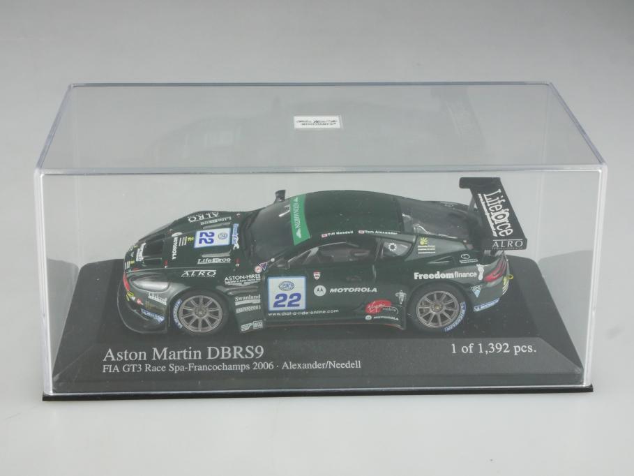 Minichamps 1/43 Aston Martin DBRS 9 Coupe Francochamps 2006 mit Box 515802