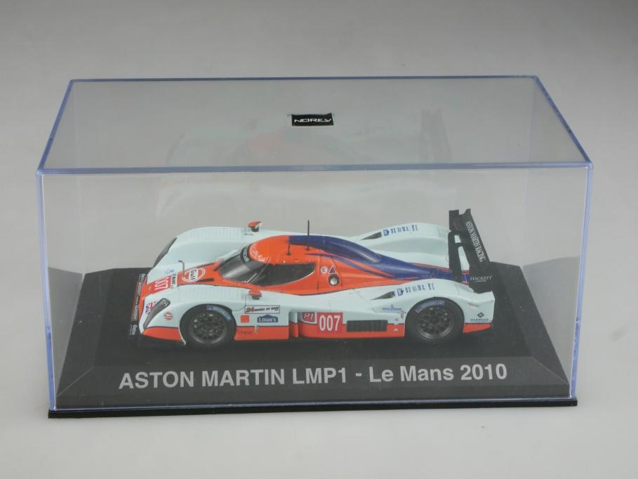 Norev 1/43 Aston Martin LMP1 Le Mans 2010 Gulf Racing mit Box 515803