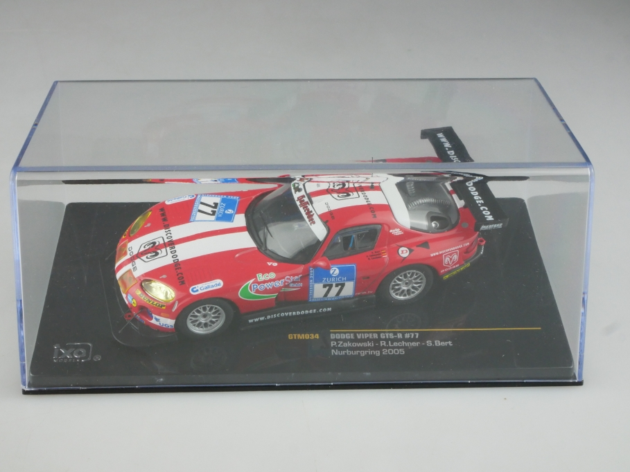 GTM034 Ixo 1/43 Dodge Viper GTS-R Coupe Nürburgring 2005 mit Box 515805