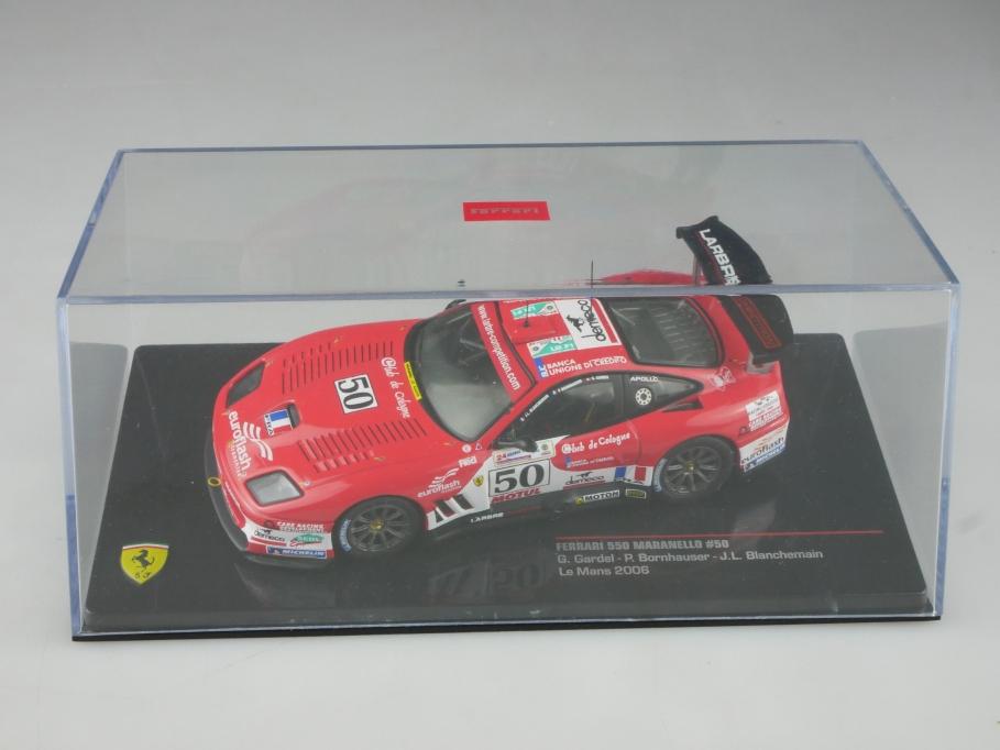 Ixo 1/43 Ferrari 550 Maranello Coupe Le Mans 2006 Gardel Bornhauser Box 515806