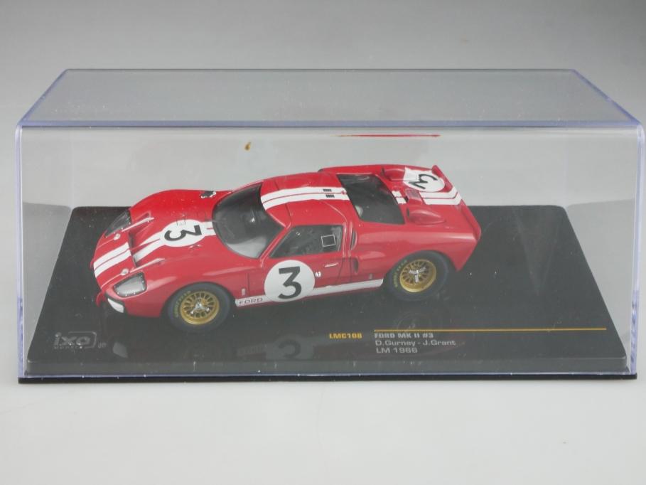 LMC108 Ixo 1/43 Ford MK II GT 40 Gurney Grant Le Mans 1966 mit Box 515808