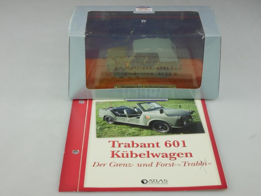 Atlas Ixo 1/43 Sachsenring Trabant 601 Militär Kübelwagen NVA DDR mit Box 515817
