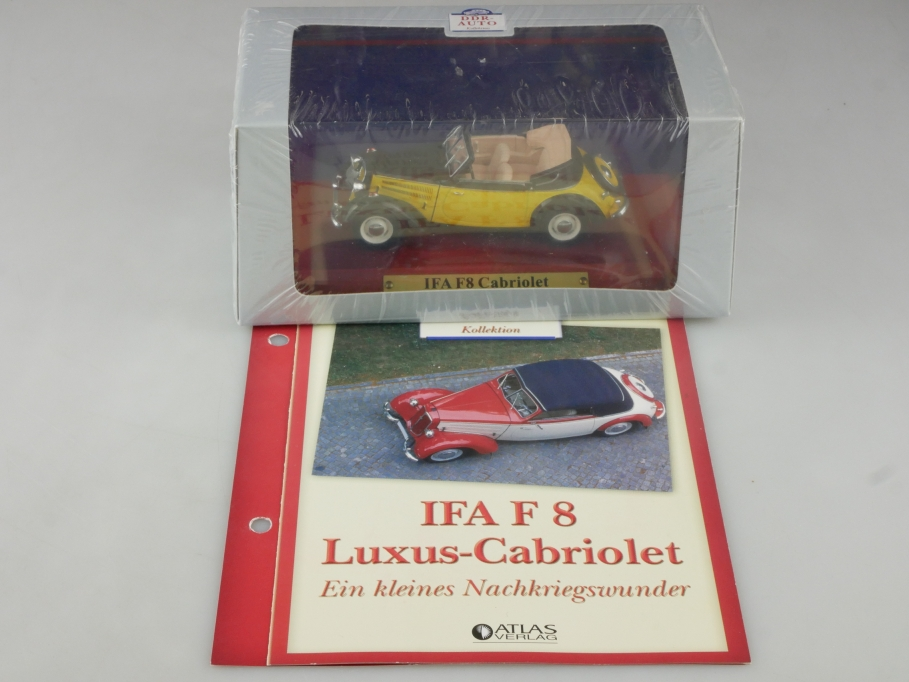 Atlas Ixo 1/43 IFA F8 Cabriolet 1949 yellow black DDR mit Box 515820