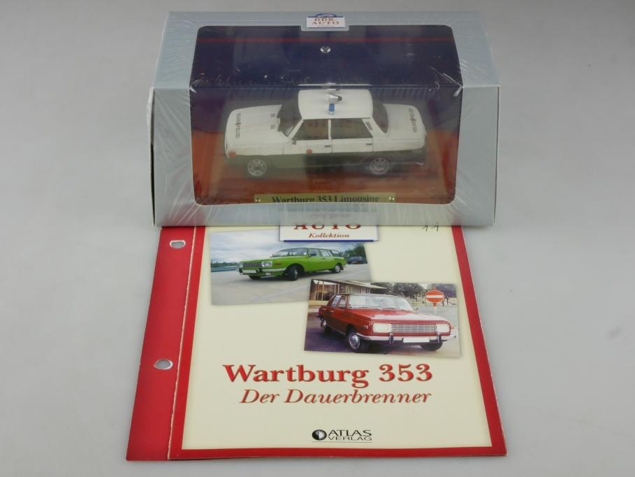 Atlas Ixo 1/43 Wartburg 353 Limousine Volkspolizei DDR mit Box 515826