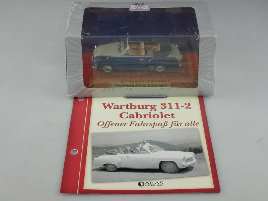 Atlas Ixo 1/43 Wartburg 311-2 Cabriolet 1956 DDR mit Box 515827