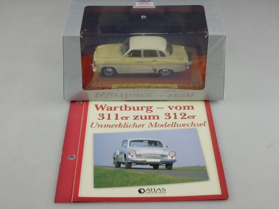 Atlas Ixo 1/43 Wartburg 311 1000 Limousine 1965 312 DDR mit Box 515828