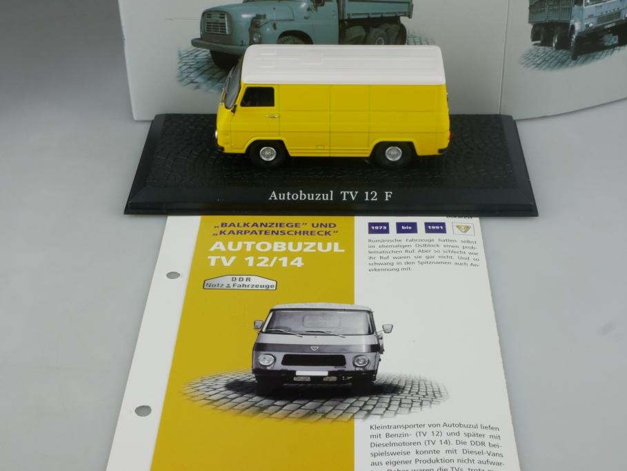 Atlas Ixo 1/43 DDR Nutzfahrzeuge Autobuzul TV 12/14 Lieferwagen mit Box 515836