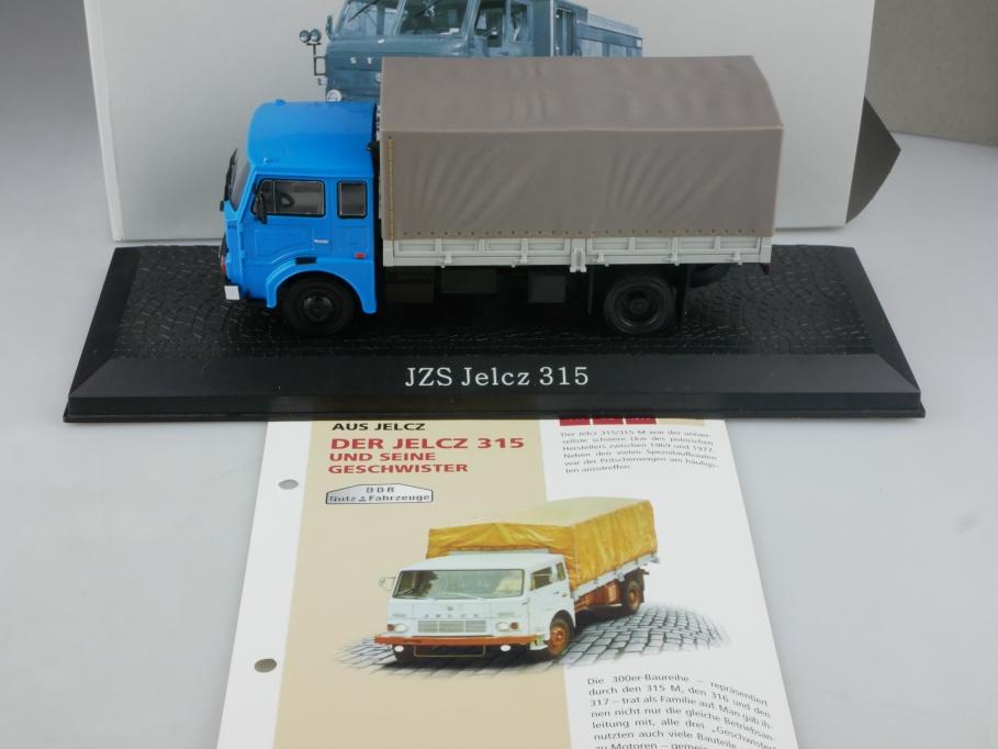 Atlas Ixo 1/43 DDR Nutzfahrzeuge JCS Jelcz 315 Pritsche mit Box 515837