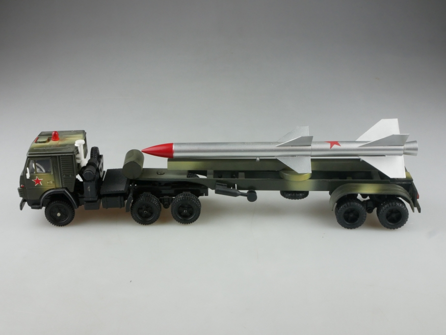 Elekon 1/43 Kamaz 5410 selten Rocket Launcher Militär cccp USSR ohne Box 515846