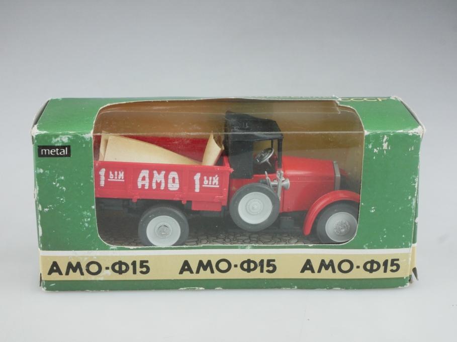 Novoexport 1/43 Amo F15 Kleinlaster Pritsche Apek DDR cccp USSR mit Box 515962