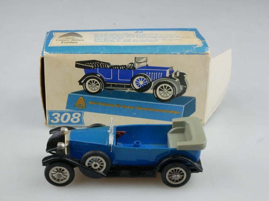 308 Espewe 1/50 Simson Supra 1925 Cabrio Bastler DDR Zinkguß Olympia Box 515970