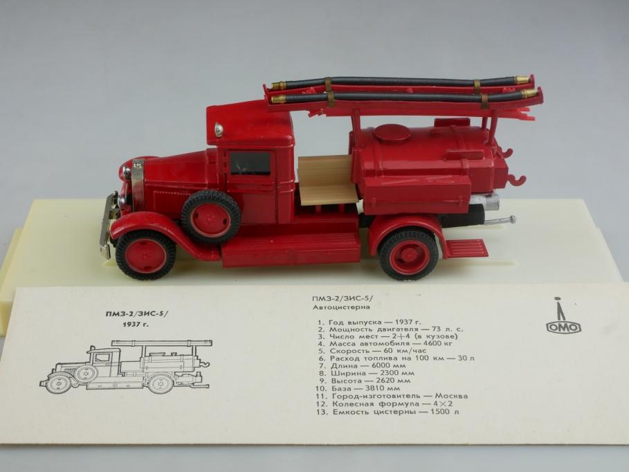 Novoexport 1/43 Amo Gaz 3-2 Zis 5 Feuerwehr Löschtank 1937 cccp USSR DDR 515997