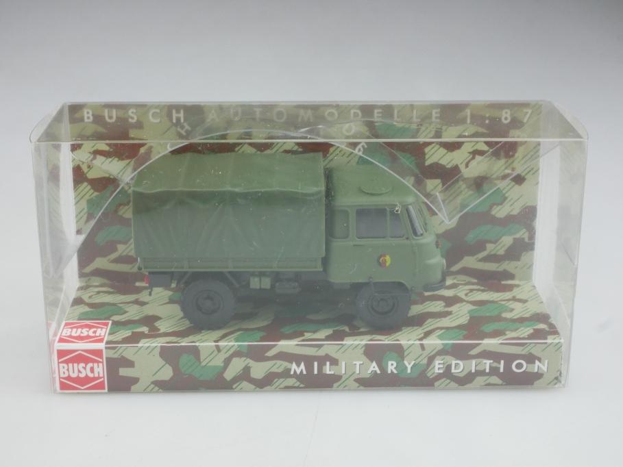 50219 Busch 1/87 Robur Lo 2002 A Pritsche NVA Militär DDR mit Box 516005