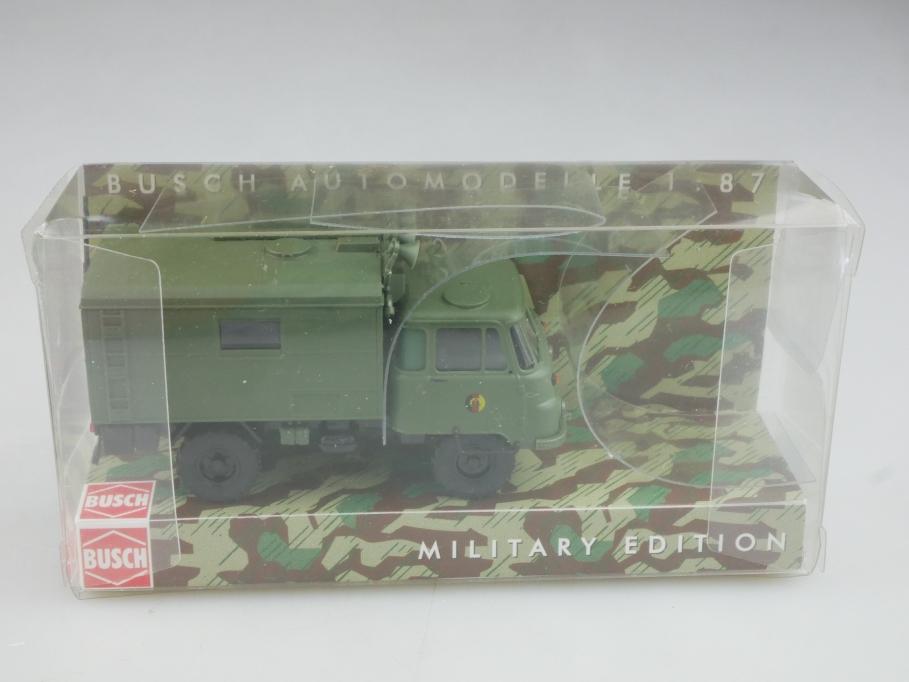 50220 Busch 1/87 Robur Lo 2002 A Rundfunkwagen NVA Militär DDR mit Box 516006