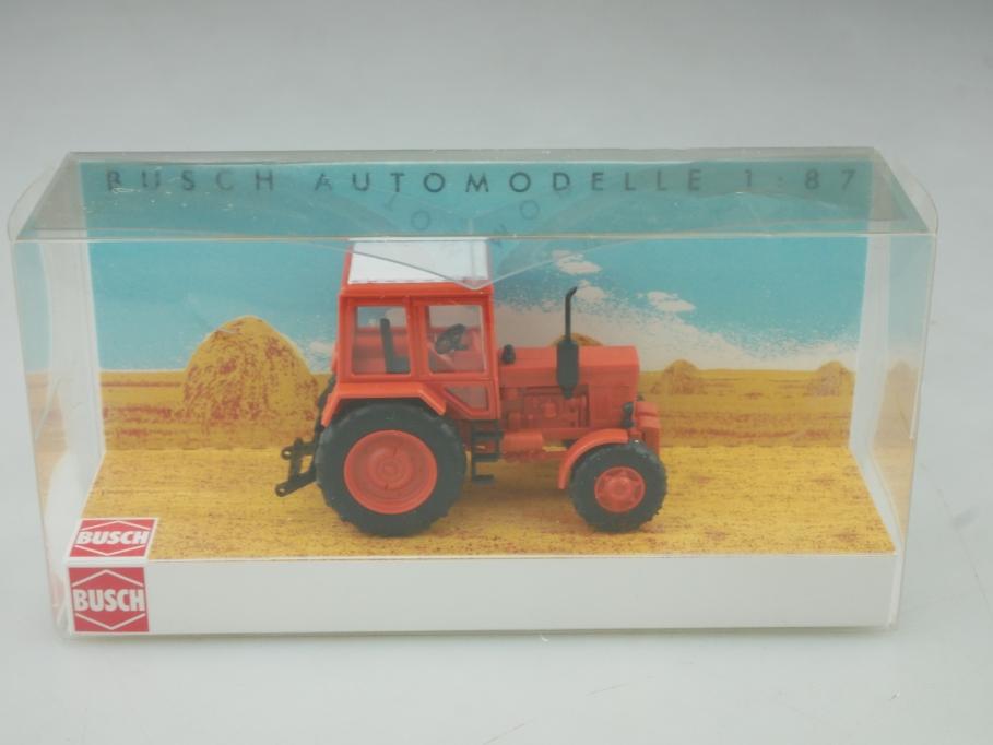51301 Busch 1/87 Belarus MTS 82 Traktor Schlepper rotorange DDR mit Box 516007
