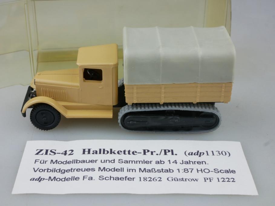 1130 Adp Kleinserie 1/87 Zis 42 Halbkette Zivil cccp USSR DDR mit Box 516010