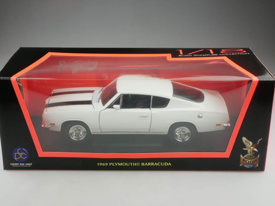 Road Signature 1/18 Plymouth Barracuda Hardtop Coupe 1969 mit Box 516017