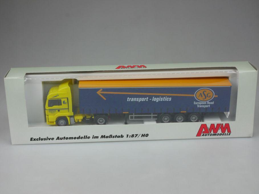 AWM 1/87 71678 ASG MAN ASG transport logistics Gardinenpl. Sattelzug Box 113076