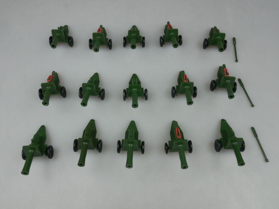 Mini Kanonen 15x guns Plastik Wargame 6cm Spielzeug plastic 113089