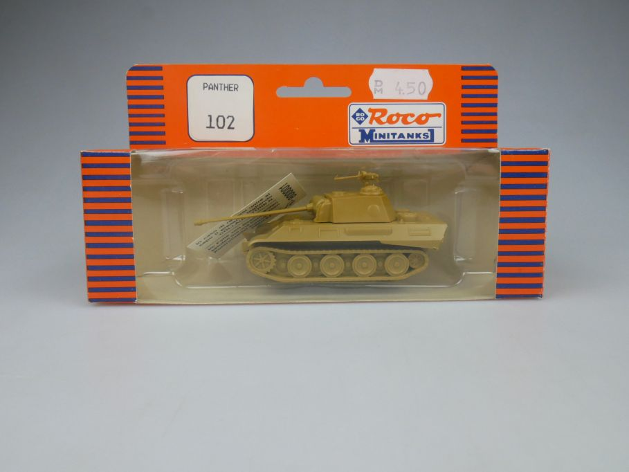Roco Minitanks 1/87 H0 102 Panther Panzer tank military + Box 113093