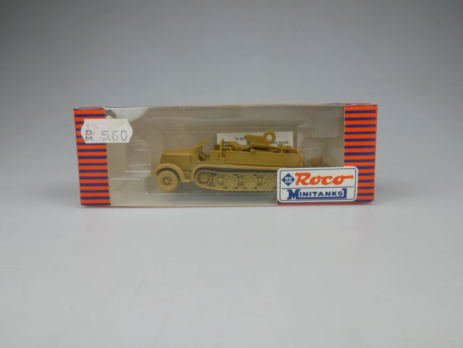 Roco Minitanks 1/87 H0 228 Halbkette Flak halftrack tank military + Box 113094