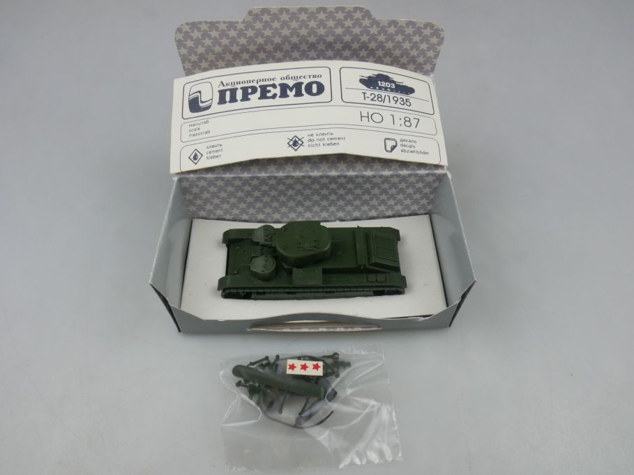 Premo Roco Minitanks 1/87 H0 1204 T-28 TU USSR tank Red Army + Box 113099