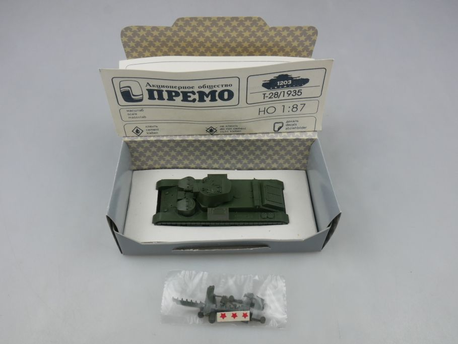 Premo Roco Minitanks 1/87 H0 1205 T-28 1938 USSR tank Red Army + Box 113100