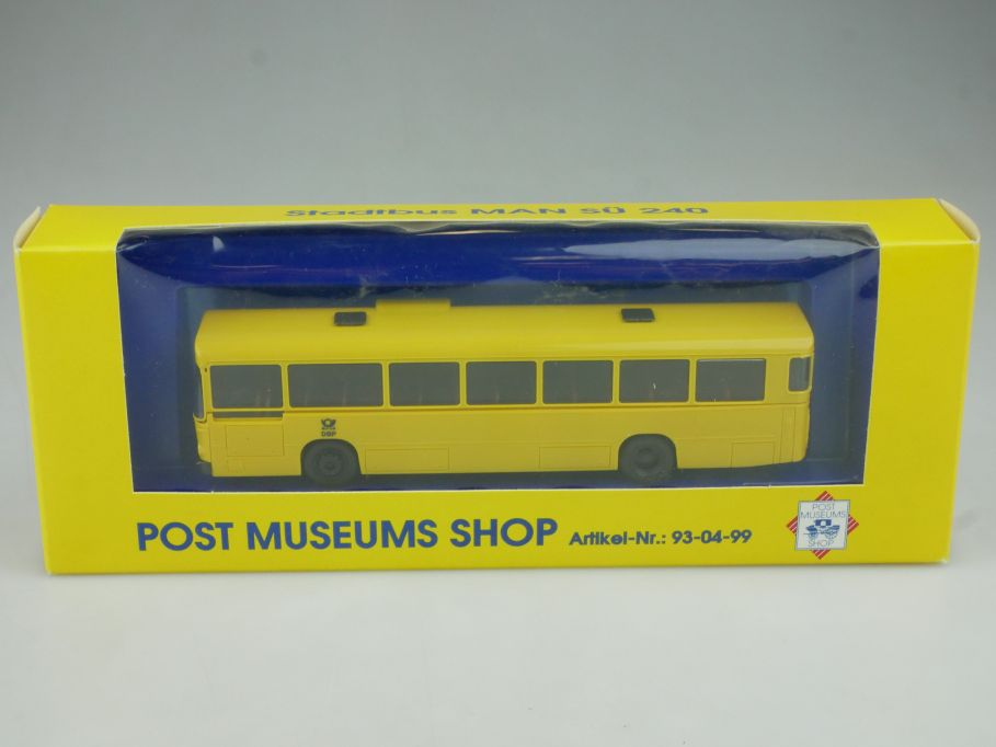 Herpa 1/87 H0 Stadtbus MAN SÜ 240 Bus Post Museum PMS 93-04-99 + Box 113110