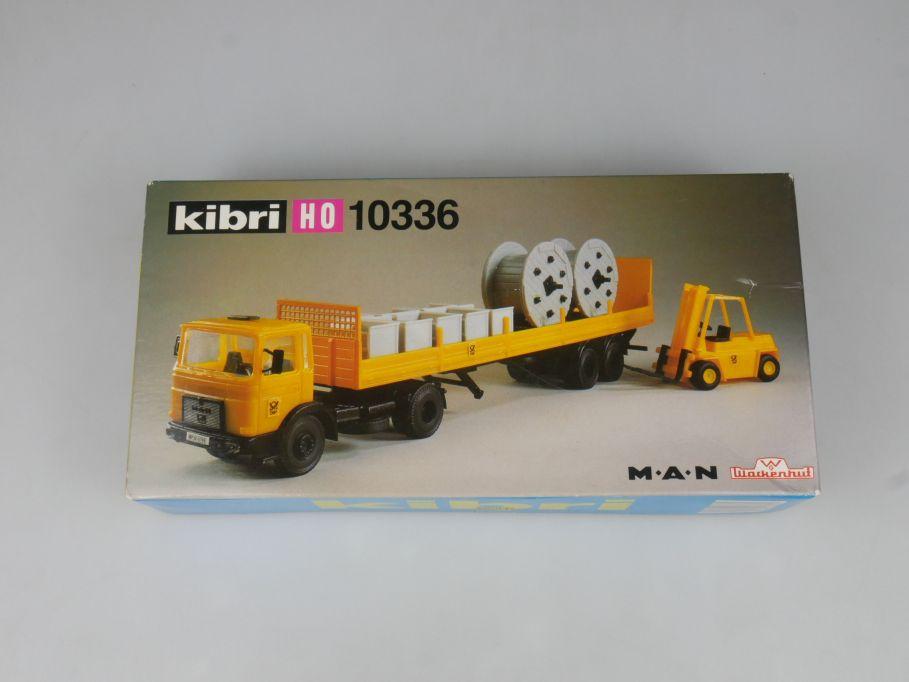 Kibri 1/87 H0 10336 Sattelzug MAN DFP Fernmeldedienst Ladegut Stapler kit 113124
