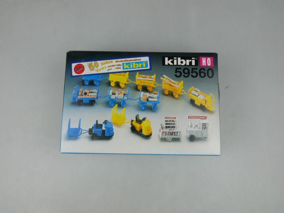 Kibri 1/87 H0 59560 Bahnsteigwagen Sortiment platform trolley Bausatz kit 113132