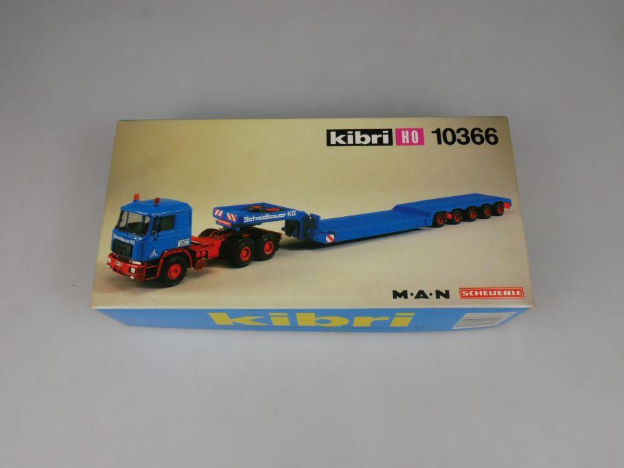 Kibri H0 10366 MAN Sattelzugmaschine Scheuerle Tiefbettauflieger kit Box 113143