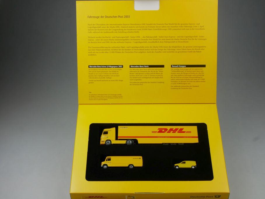 Herpa H0 Fahrzeuge der Deutschen Post 2003 MB Actros Megaspace 006270 Box 113201