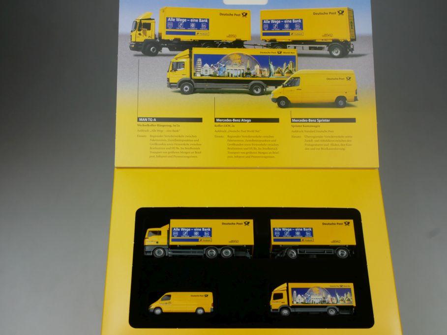 Herpa H0 Fahrzeuge Dt Post 2002 alle Wege eine Bank MAN MB 006790 Box 113203