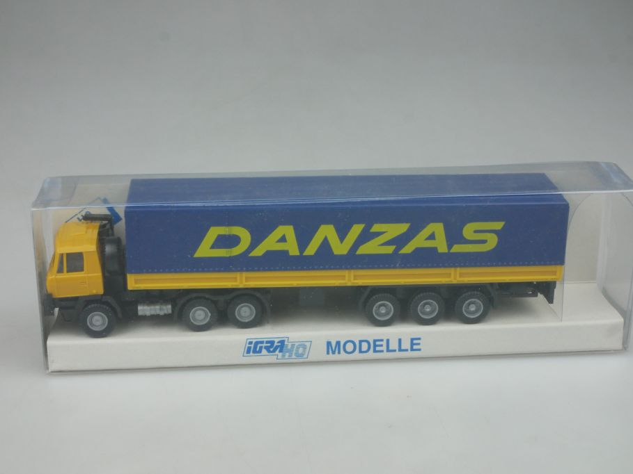 IGRA H0 Modelle DANZAS Tatra 815 IG 851 LKW Truck Plane + Box 113151