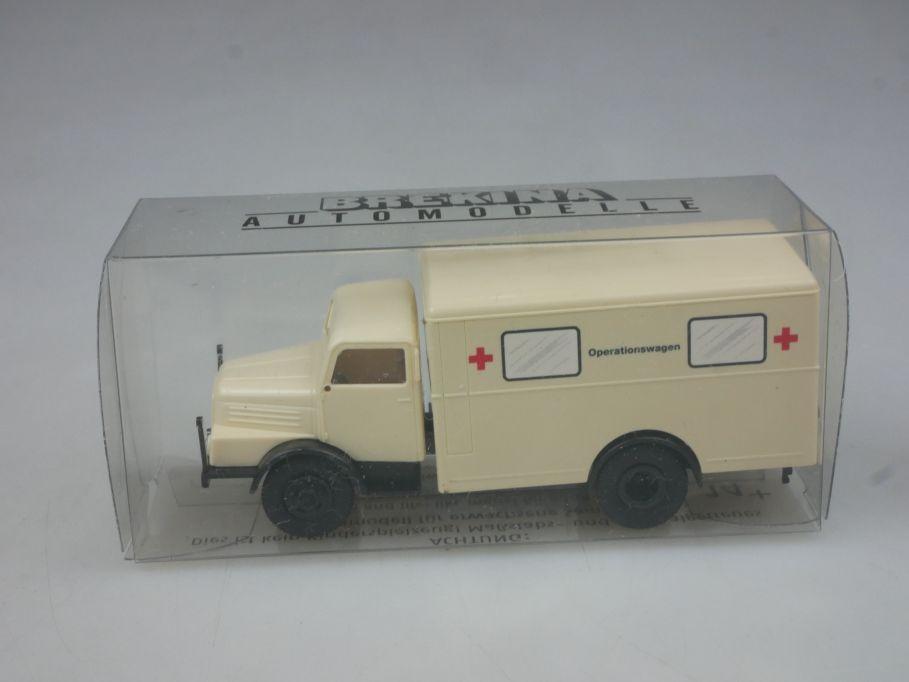 Brekina H0 MB Operationswagen Hilfszug Sani Rotes Kreuz + Box 113160