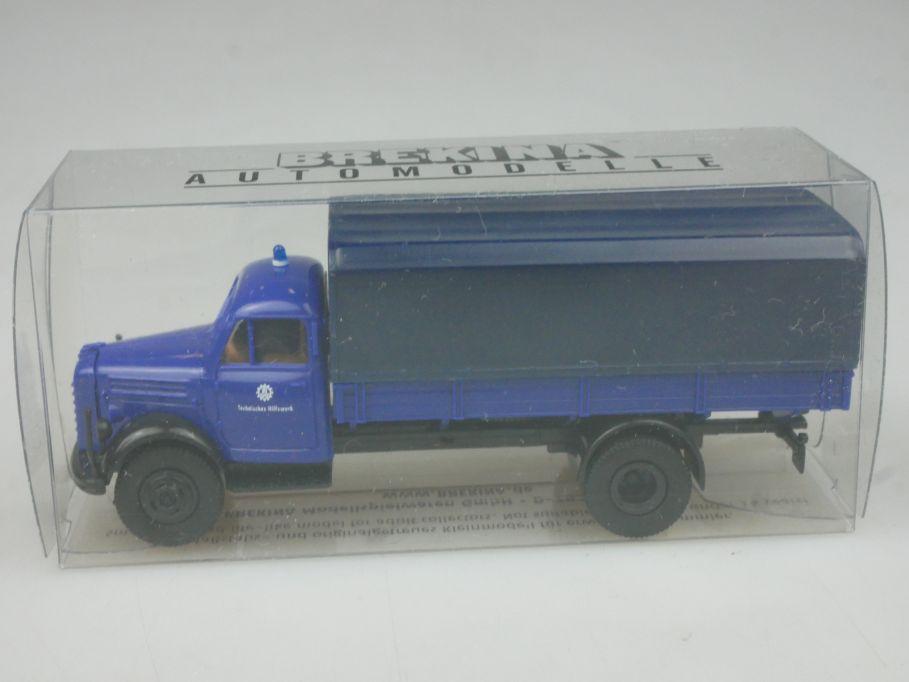 Brekina H0 THW Borgward B 4500 LKW Box 113164