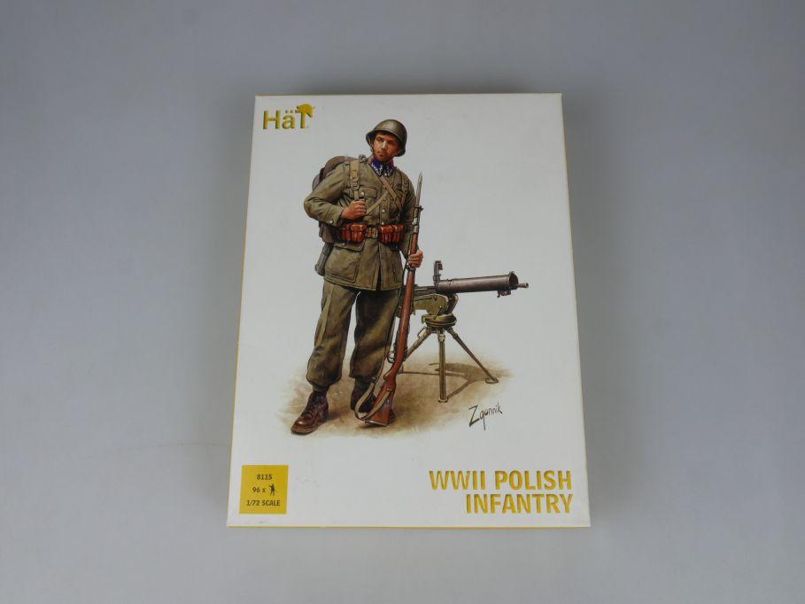 HÄT 1/72 8115 WWII Polish Infantry Polnische Infanterie Figures kit Box 113295