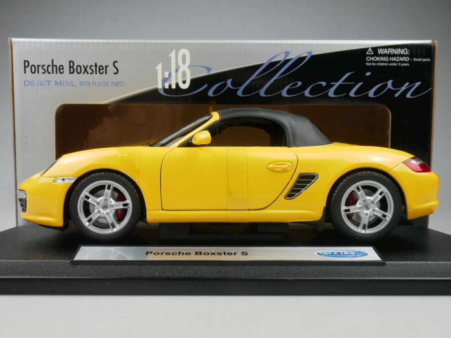 Welly 1/18 Porsche Boxster S gelb yellow diecast model 18005HW + Box 113192