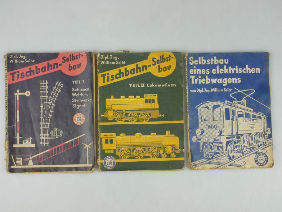 Tischbahn-Selbstbau William Seibt 30er J. 3 Hefte Lokomotiven Triebwagen 113196
