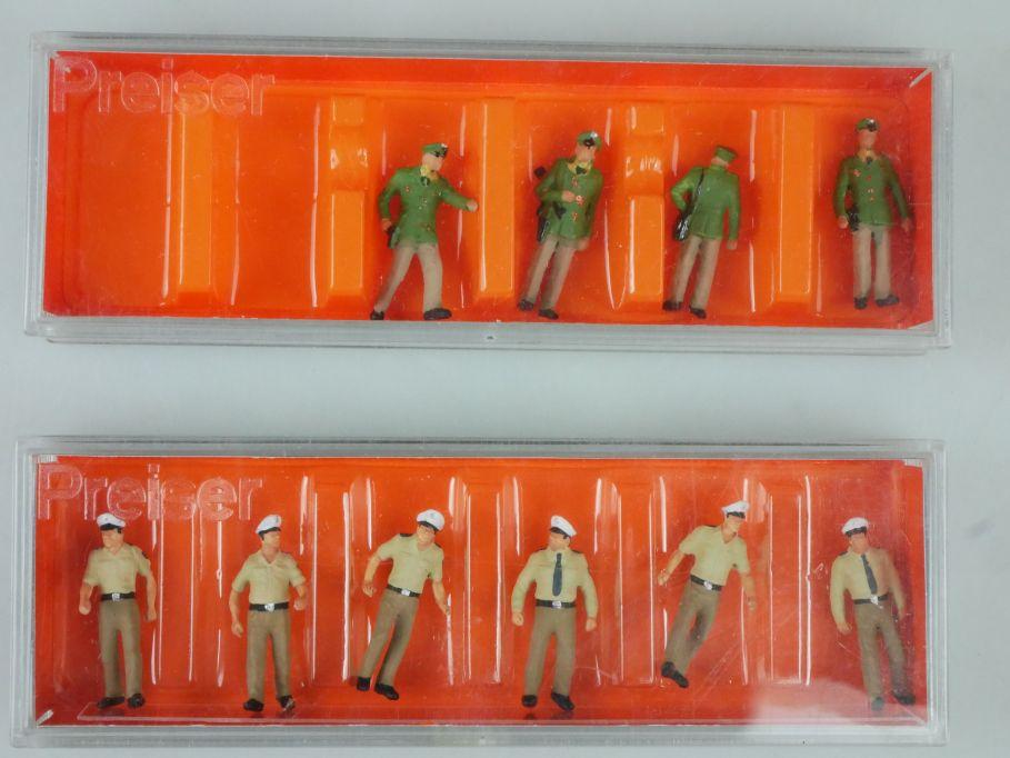 Preiser H0 Figuren 10340 Polizisten Sommeruniform 14008 Polizisten + Box 113257