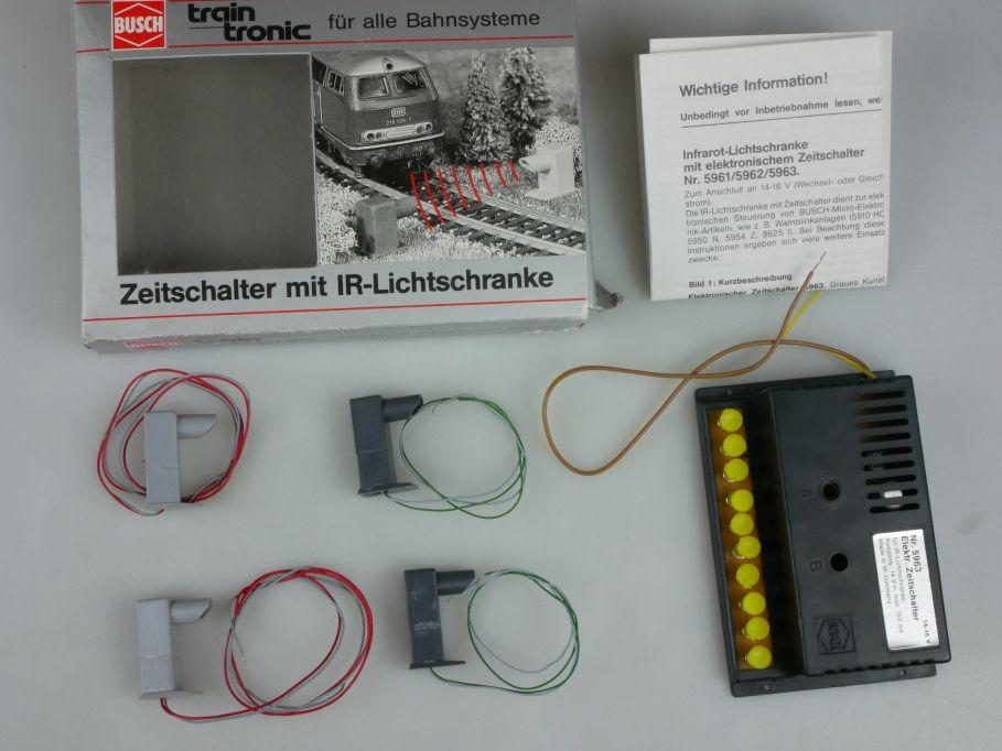 Busch 5961 5962 Zeitschalter mit IR Lichtschranke für alle Bahnsysteme 113260