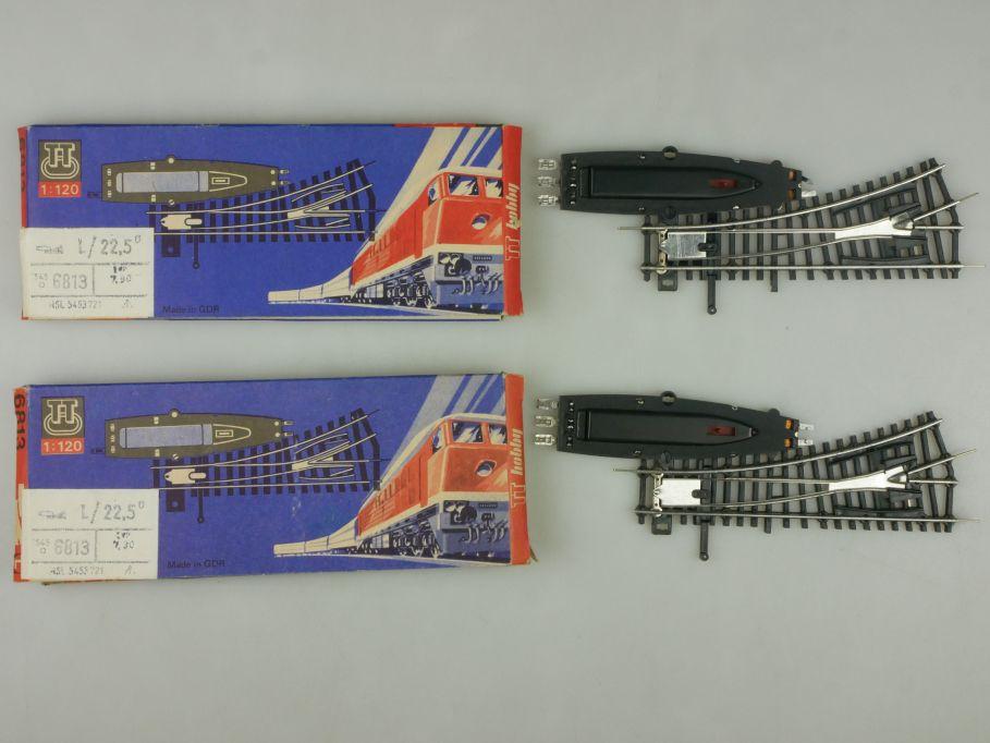 BTTB Spur TT 2x 6813 Weiche links in OVP Box 113280