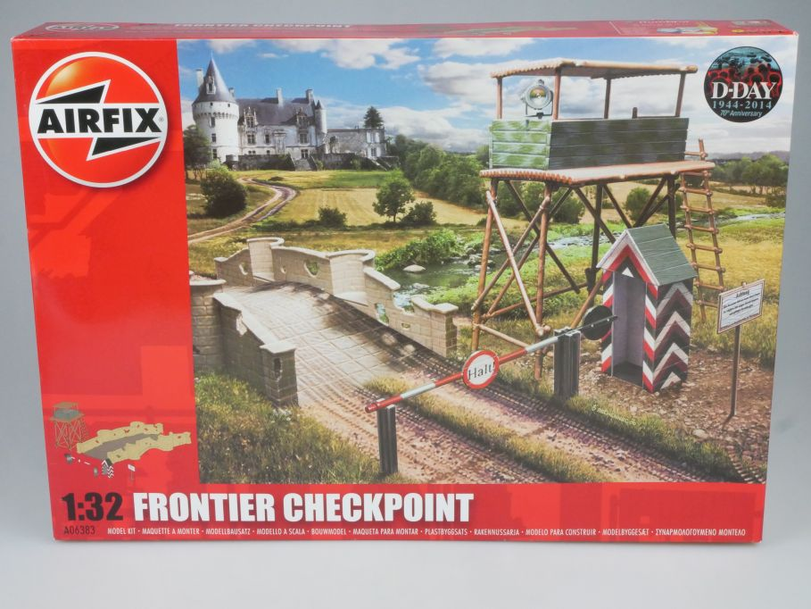 Airfix 1/32 Frontier Checkpoint D-Day 1944-2014 A06383 kit Box 113303