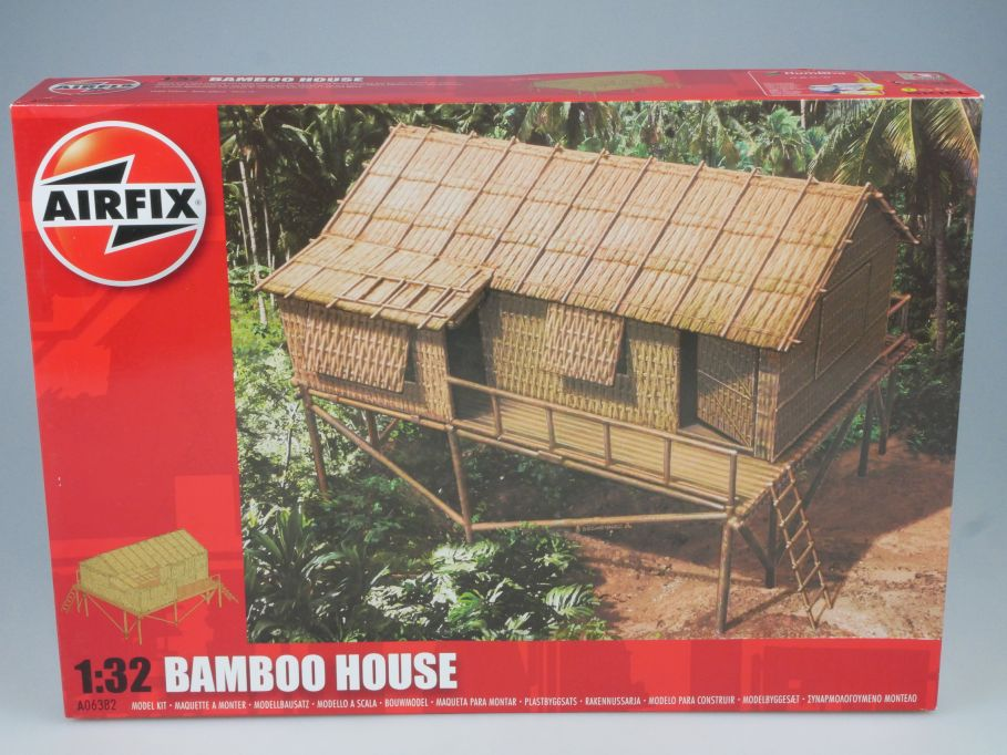Airfix 1/32 BAMBOO HOUSE Bambushütte WWII Burma Pacific A06382 kit Box 113304